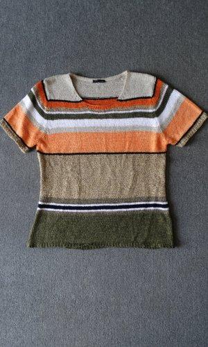 CPM the Collection! Sweater met korte mouwen veelkleurig Gemengd weefsel