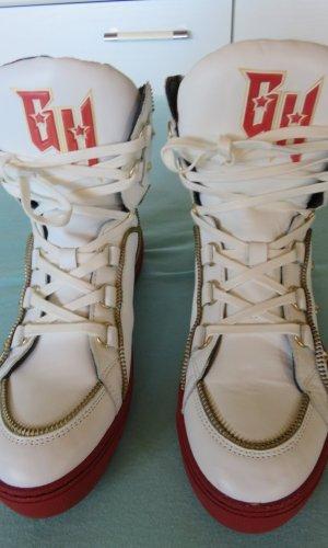 Gigi Hadid x Tommy Hilfiger Laarsjes wit-baksteenrood Leer