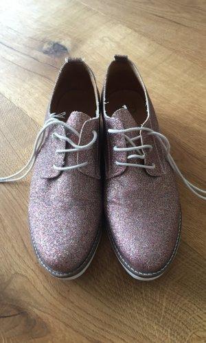 Glitzer Schuhe Rose Made in Spain