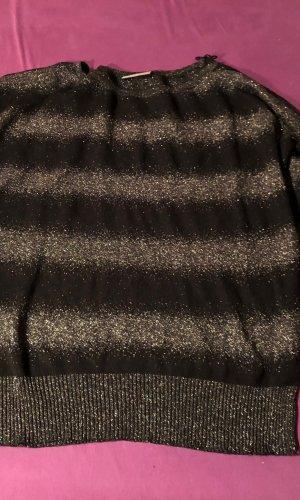 Yessica Sweater met korte mouwen zwart-zilver