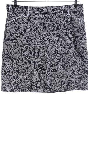 Golfino Jupes-culottes noir-blanc motif abstrait style d'affaires