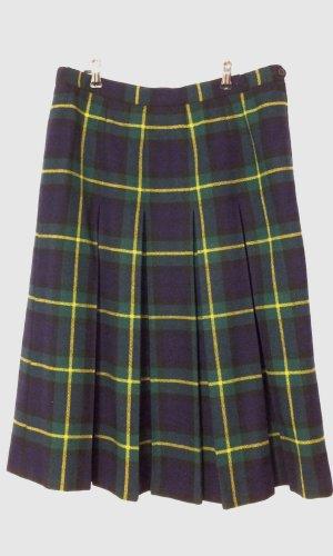 Vintage Jupe à plis multicolore laine vierge