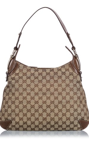 Gucci GG Canvas Horsebit Creole Shoulder Bag