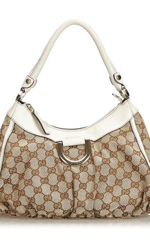 Gucci GG Jacquard Abbey D-Ring Handbag
