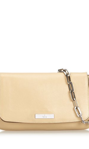 Gucci Leather Chain Baguette