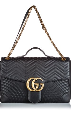 Gucci Leather Maxi Marmont Satchel