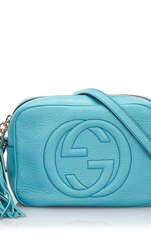 Gucci Gekruiste tas lichtblauw Leer