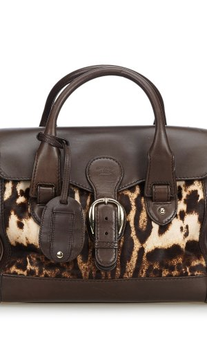 Gucci Leopard Printed Pony Hair Handbag