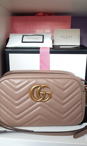 Gucci Marmont Small Camera Bag Porcelain Rose Nude