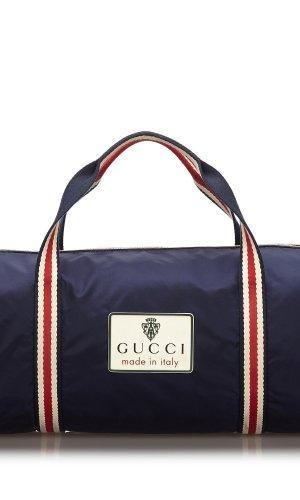 Gucci Bolso de viaje azul Nailon