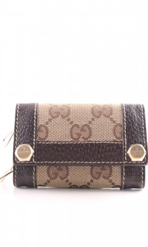 Gucci Key Case brown-cream business style