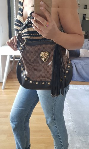 Gucci Soho bag original Tasche braun gold Shopper nieten
