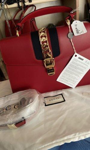 Gucci Draagtas zwart-rood Leer