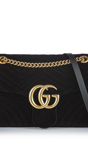 Gucci Velour Marmont Shoulder Bag