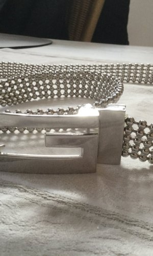 Guess Cinturón de cadena color plata metal