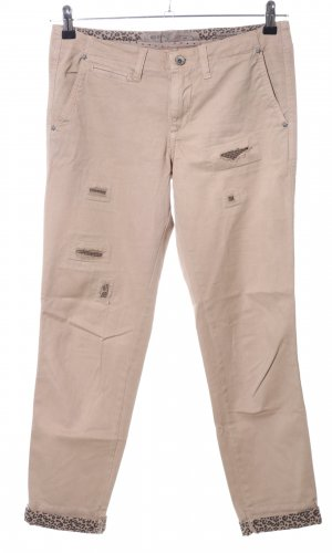 Guess Stoffhose wollweiß-bronzefarben Casual-Look