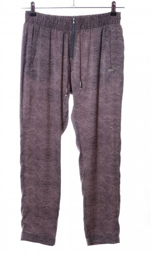Guess Stoffhose lila-wollweiß abstraktes Muster Casual-Look