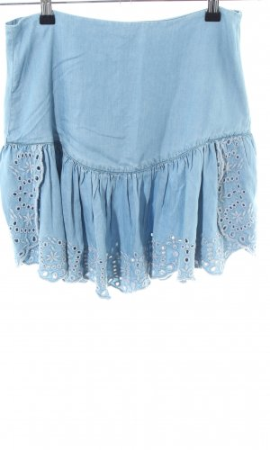 Guess Volanten rok blauw casual uitstraling