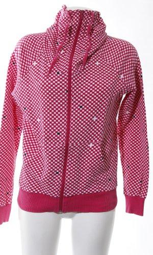 H&M Divided Veste sweat blanc-rouge motif à carreaux style décontracté