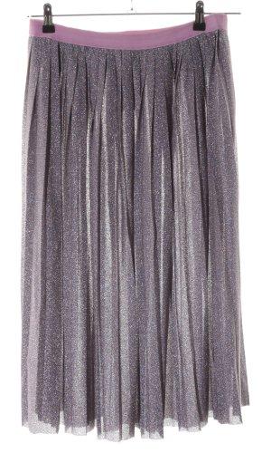 H&M Jupe à plis rose-argenté style décontracté