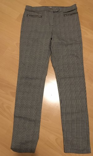 H&M Pantalón elástico blanco-negro
