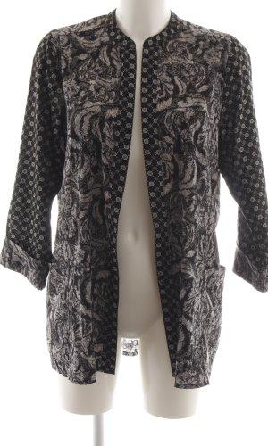 H&M Kimono negro-gris claro estampado con diseño abstracto look casual