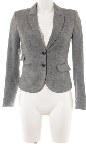 H&M Kurz-Blazer grau meliert Business-Look