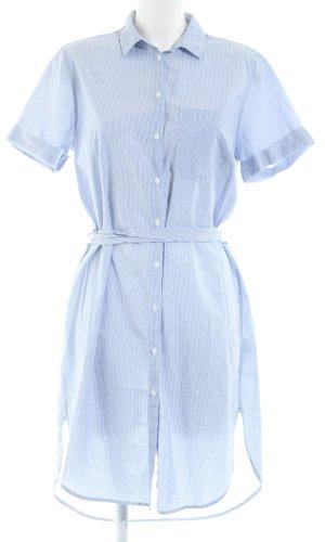 H&M L.O.G.G. Robe chemise blanc-bleu motif rayé style d'affaires