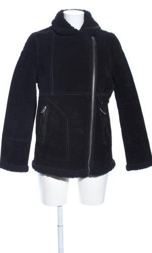 H&M L.O.G.G. Chaqueta de cuero negro look casual