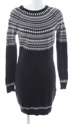 H&M L.O.G.G. Sweaterjurk taupe-wit geruite print casual uitstraling