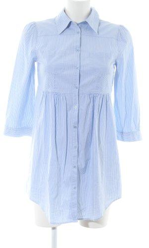 H&M Long-Bluse blau-weiß Streifenmuster Casual-Look