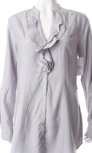 H&M Long-Bluse grau klassischer Stil