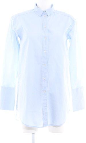 H&M Long-Bluse himmelblau Business-Look