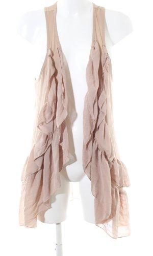 H&M Chaleco de punto largo nude look casual