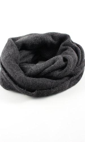 H&M Écharpe ronde noir imprimé allover style décontracté