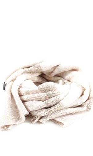 H&M Bufanda de punto blanco puro-color bronce estampado a rayas look casual