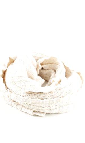 H&M Bufanda de punto blanco puro look casual