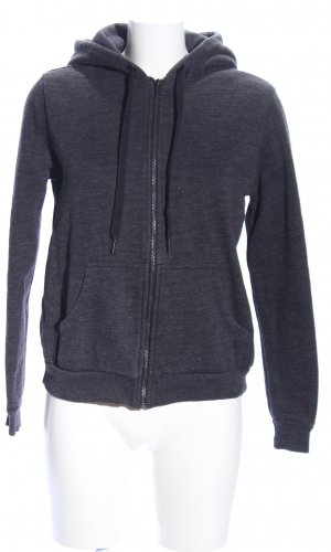 H&M Veste sweat gris clair moucheté style décontracté