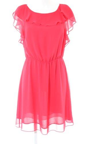 H&M Volantkleid pink Elegant