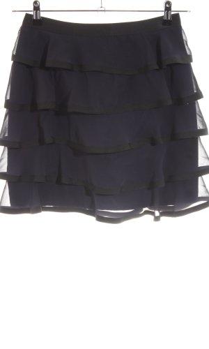 H&M Volanten rok zwart feest stijl