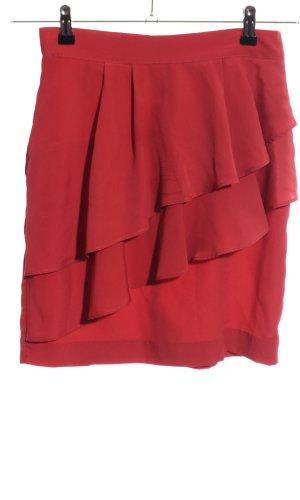 H&M Volanten rok rood casual uitstraling