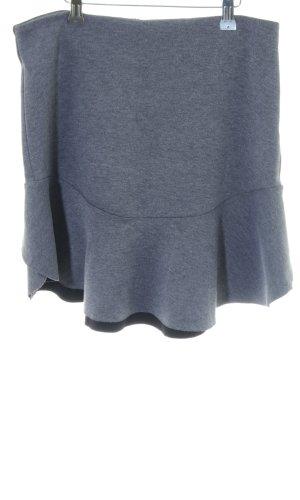 H&M Volanten rok blauw-zwart gestippeld casual uitstraling