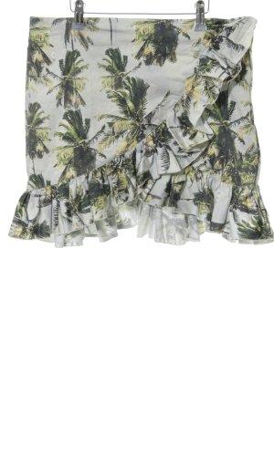 H&M Volanten rok bloemenprint casual uitstraling