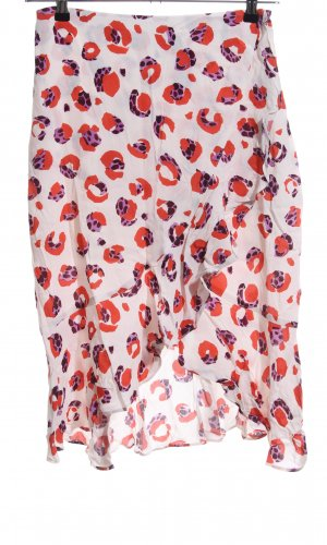H&M Volanten rok wit abstract patroon casual uitstraling