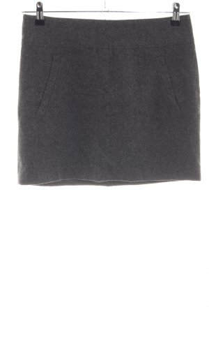 H&M Wollen rok lichtgrijs zakelijke stijl
