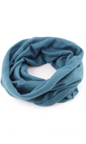 Écharpe ronde bleu style décontracté