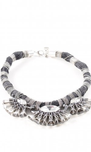 Hallhuber Statement Necklace silver-colored extravagant style