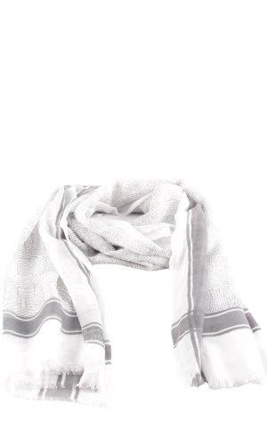 Halstuch wollweiß-grau abstraktes Muster Casual-Look