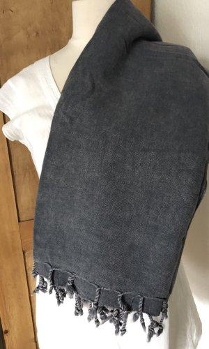 Stola donkerblauw-leigrijs