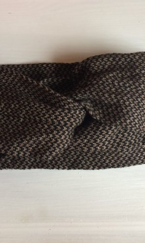 Earmuff dark brown-camel mixture fibre